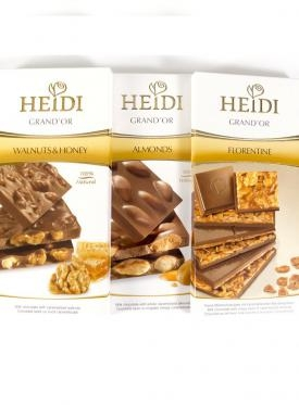 CHOCOLATE HEIDI MILK & ALMONDS  100 GR.