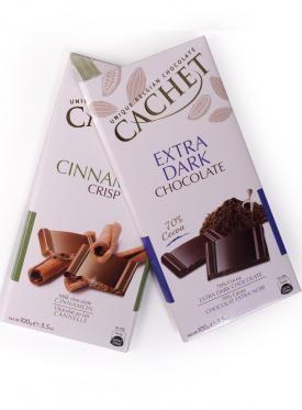 CACHET CHOCOLATE LECHE CANELA CRUJIENTE 100 GR.