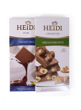 CHOCOLATE HEIDI MILK & HAZELNUTS 100 GR.
