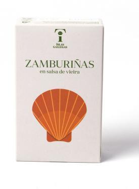 """ZAMBURIÑAS EN SALSA DE VIEIRA RR125""""ISLAS GALLEGAS"""""""