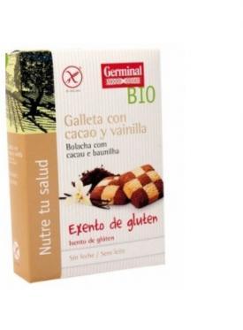 GALLETA CACAO VAINILLA S/GLUTEN BIO 250G GERMINAL